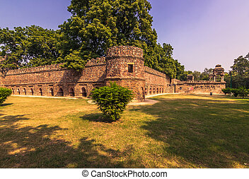 October 27, 2014: Walls around the Lodi Gardens in New...