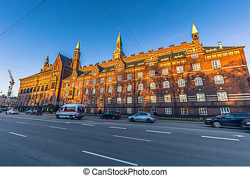 Sideview of the City Hall of Copenhagen, Denmark
