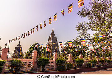October 30, 2014: The Mahadobhi temple in Bodhgaya, India