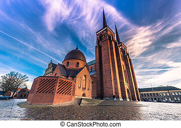 December 04, 2016: The Cathedral of Saint Luke in Roskilde,...