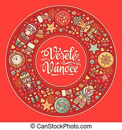 Vesele vanoce - greeting cards. Xmas in the Czech Republic....