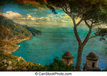 Ravello (Canvas) - An Italian sunrise from Vomero in Naples,...