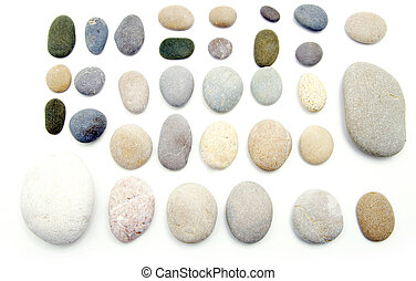 balanced stones - Stack of balanced stones on a white...