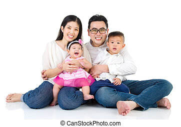 asian family - Indoor portrait of asian family