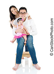 asian family - Portrait of asian family