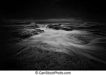 Narrabeen seascape moody weather - Narrabeen seascape,...