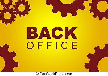Back office concept - Back office sign concept illustration...