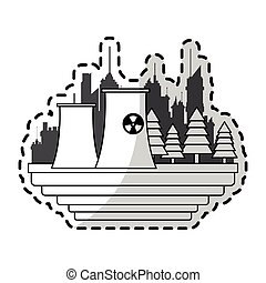 nuclear plant icon image vector illustration design