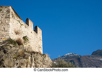 Castello Scaligero at Malcesine, Italy during winter