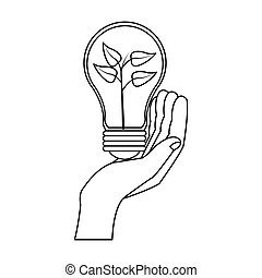 eco friendly icon image - lightbulb eco friendly icon image...