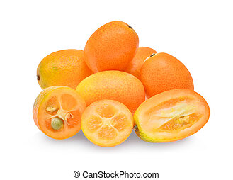 kumquat,cumquat fruit isolated on white background