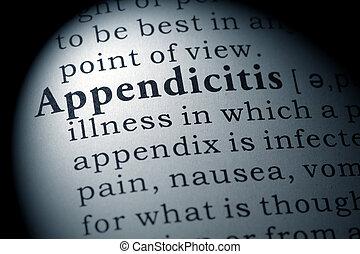 definição, apendicite