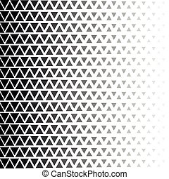 Abstract geometric black and white halftone zigzag pattern