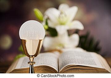 Eucaristia, Bibbia, comunione, sacramento, fondo