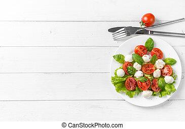 Gourmet greek salad, text space left - Gourmet greek salad...