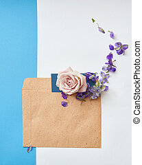 Copy space for expressing emotions - Copy space of envelope...
