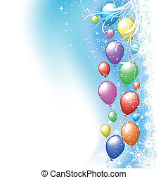 Christmas balloons - Colourful party balloons on a Christmas...