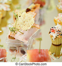 Appetizers, gourmet food, catering service