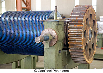 Industrial Roller at a Foundry