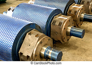 Industrial Rollers at a Foundry - Image of industrial...