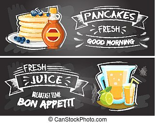 Premium quality restaurant breakfasts vintage style advertisement illustration