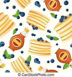 Premium quality restaurant breakfasts vintage style advertisement seamless pattern