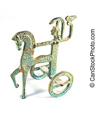 Figure of a Roman Chariot - Bronze figure of a Roman chariot...