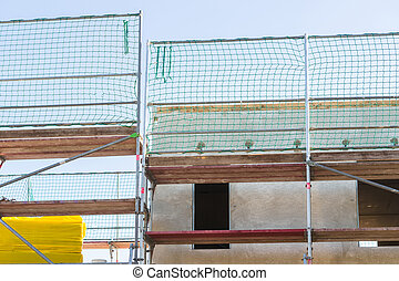 Prefabricated house under construction - The construction of...