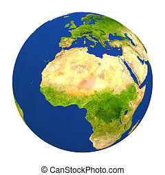 Niger highlighted on Earth - Country of Niger highlighted on...