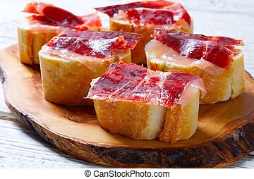 iberian ham from Spain tapas pinchos food recipes