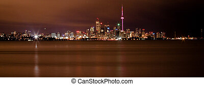 Toronto skyline  - Toronto Skyline at night