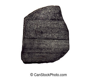Rosetta Stone - Rosetta stone on white background