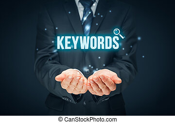 Keywords - Find keywords - SEO and SEM concept. Marketing...