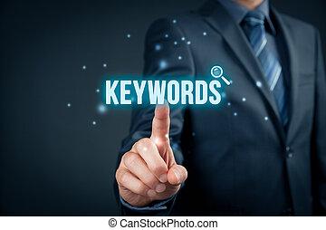 Keywords - Find keywords - SEO and SEM concept. Marketing...