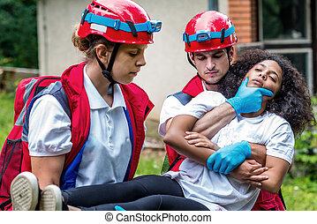 Victim evacuation