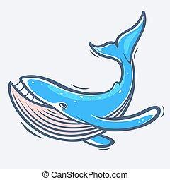 Blue whale sea life
