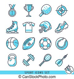 Sport icons set vector illustration - Sport icons set lines...