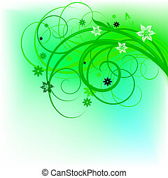 green curl design