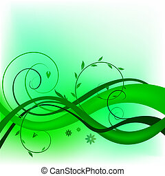 Green swirl design