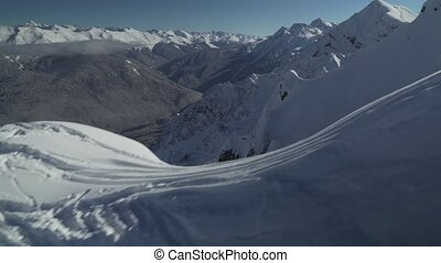 North slope Aibga Ridge of Western Caucasus at Rosa Khutor...