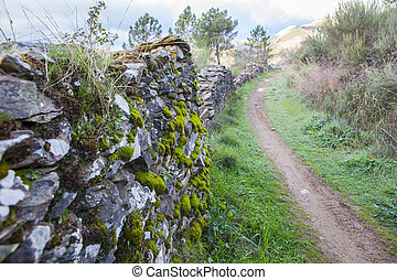 Villuercas geopark trail, Caceres, Extremadura, Spain. Old...
