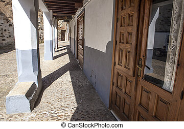Guadalupe old town streets, Caceres, Spain - Guadalupe old...