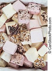 Assorted handmade marshmallow - Strawberry, lemon, chocolate...