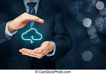 Cloud computing security concept - connect devices to cloud....