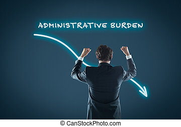 Administrative burden reduction concept. Businessman...