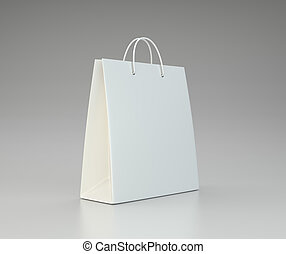 close up of a white paper bag