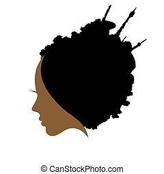 the profile of woman hair style - Woman Hair style...