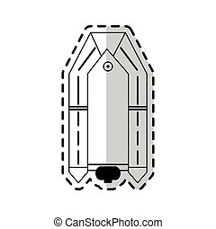 motor lifeboat icon image vector illustration design