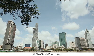 Skyscrapers business center in Ho Chi Minh City on Vietnam...