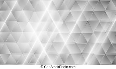 Abstract grey tech geometric triangles video clip - Abstract...